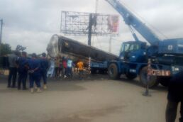 Fuel tanker fire destroys shops in Yola [Photos]